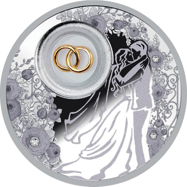 Wedding Coin Proof Silver Coin 2$ Niue 2020
