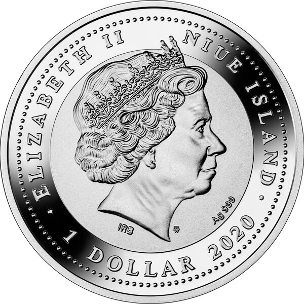 May the Angel of Love Watch Over You Proof Silver Coin 1$ Niue 2020