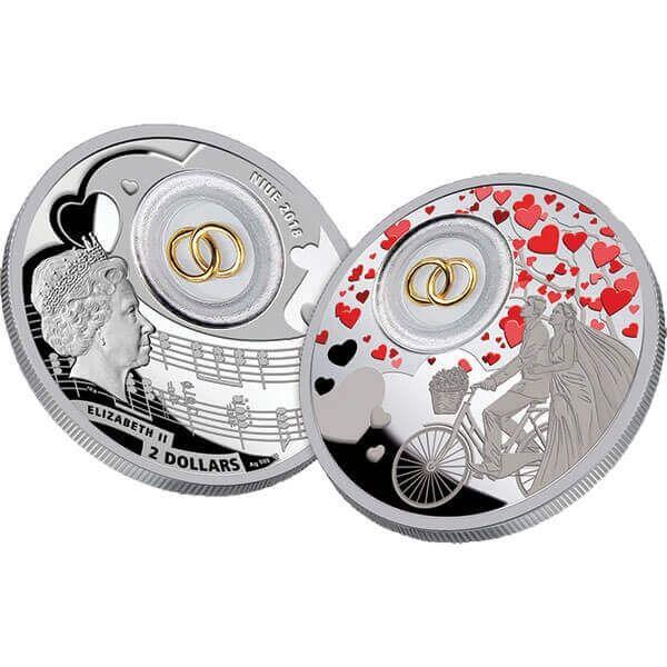 Wedding Coin Proof Silver Coin 2$ Niue 2018