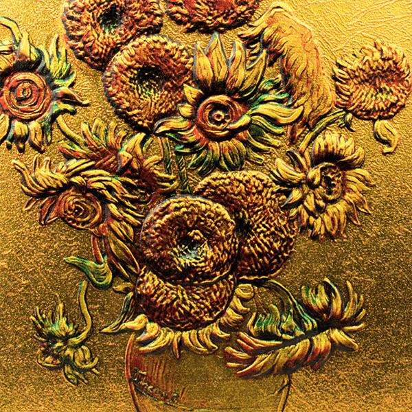 Sunflowers Vincent Van Gogh 2 oz Proof-like Silver Coin 10 Cedis Republic of Ghana 2020