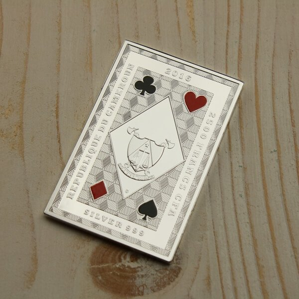 Cameroon 2016 2500 Francs Royal Flush Offer - Jack Of Clubs Proof Silver Coin