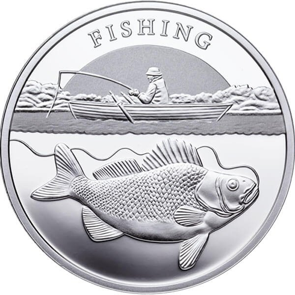 Niue 2014 1$  Fishing Proof Silver Coin