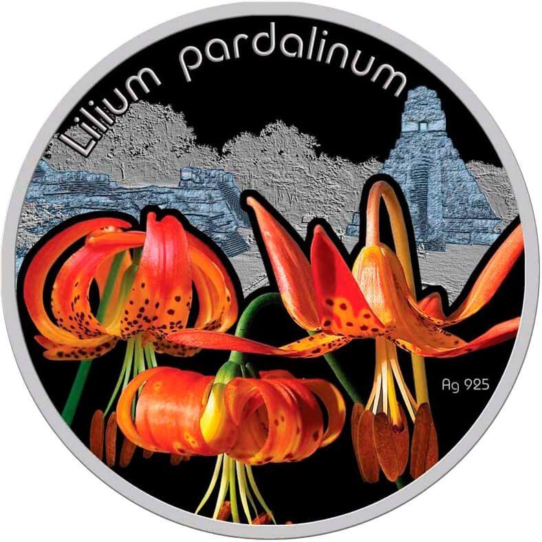 Lilium pardalinum Lilium Proof Silver Coin 1$ Niue 2012
