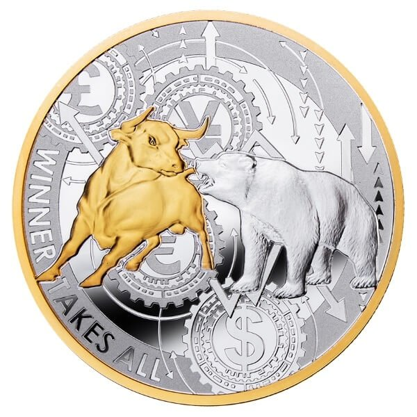 Winner Takes All 1 oz Proof Silver Coin 500 Francs CFA Cameroon 2021