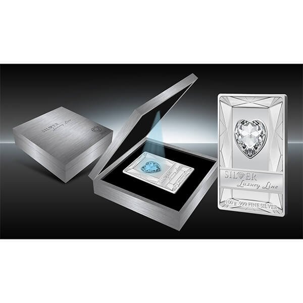 Cook Islands 2014 20$ Silver Luxury Line (Blue)  100 g Proof Silver Coin