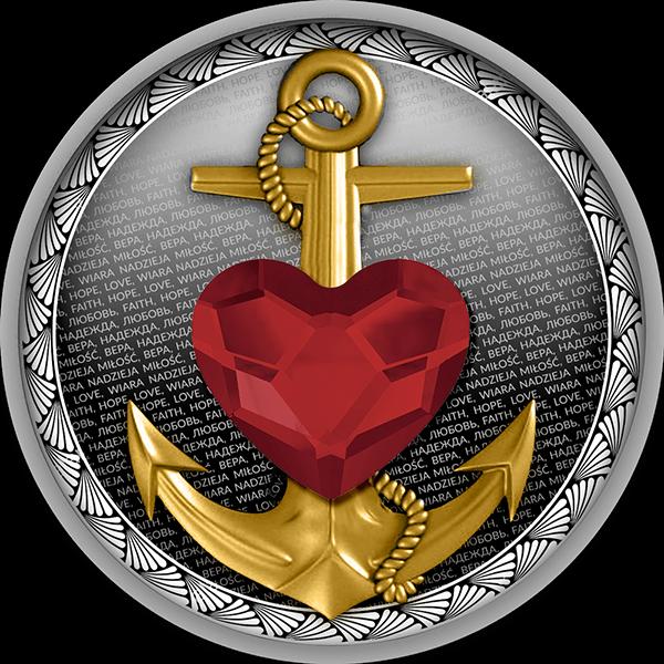 Faith, Hope, Love Proof Silver Coin 500 Francs Cameroon 2020