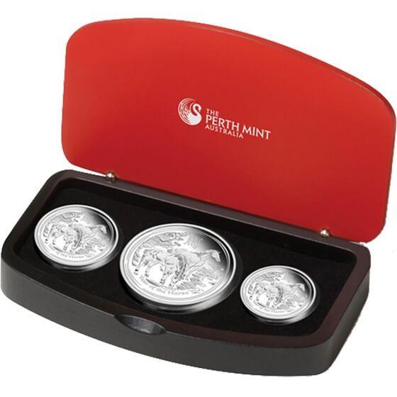 Australia 2014  3,5$ Australian Lunar Series II 2014 Year of the Horse Silver Three-Coin Set