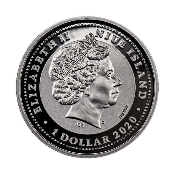 Jasper Scarabaeus Proof Silver Coin 1$ Niue 2020