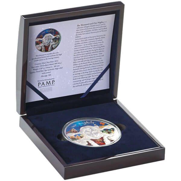 Niue 2016 150$ 1001 Nights Scheherazade Fairy Tales 1 Kilo BU Silver Coin