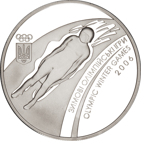 Ukraine 2006 10 Hryvnia's Twentieth Winter Olympic Games of 2006 Proof Silver Coin