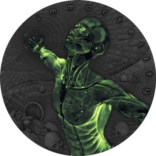 Immortality Code of the Future 2oz Antique Finish Silver Coin 2$ Niue 2018