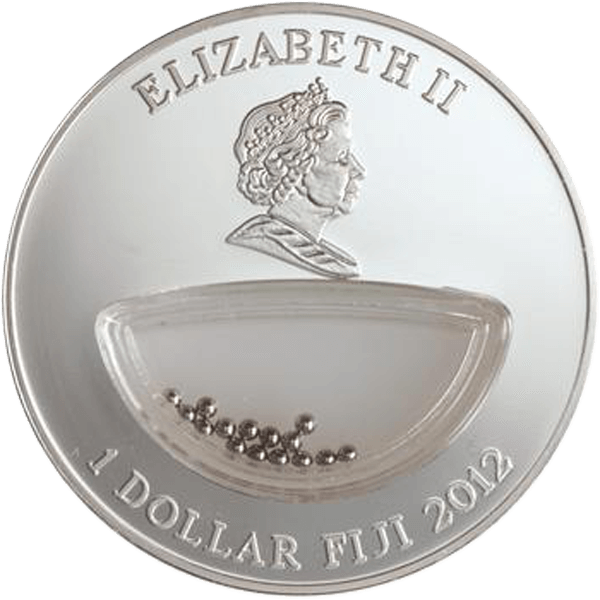 Mexico - Rhodium Treasures of Mother Nature Proof Silver Coin 1$ Fiji 2012