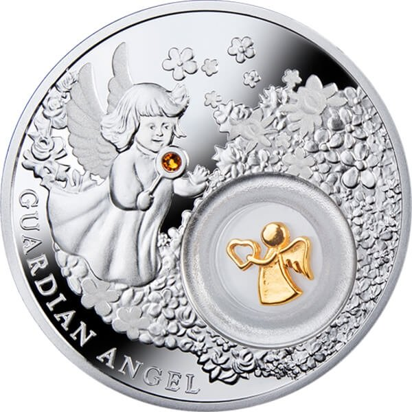 Niue 2014 2$ Guardian Angel Proof Silver Coin