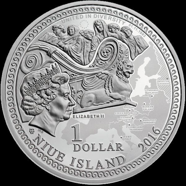 Niue 2016 1$ Saint Petersburg Amber Road 2016  Proof Silver Coin