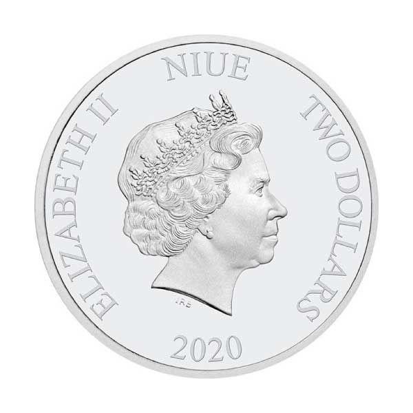 Mortal Kombat 1 oz Proof Silver Coin 2$ Niue 2020