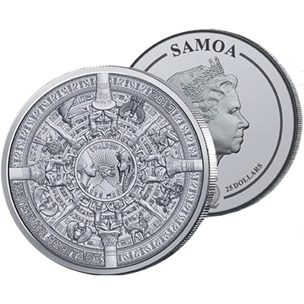 Egyptian Heritage Multiple Layer Coin 1 Kilo Antique finish Silver Coin 25$ Samoa 2019