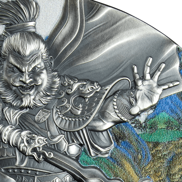 Zhang Fei Warriors of Ancient China 3 oz Antique finish Silver Coin 5$ Niue 2020