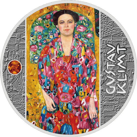 Portrait of Eugenia Primavesi Golden Five Proof Silver Coin 1$ Niue 2019