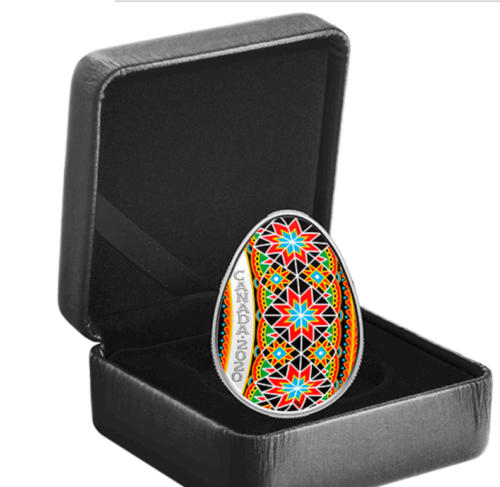 Traditional Pysanka 31.82 g Proof Silver Coin 20$ Canada 2020