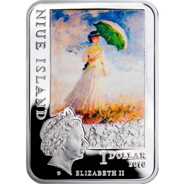 Claude Monet Painters of the World Proof Silver Coin 1$ Niue 2010