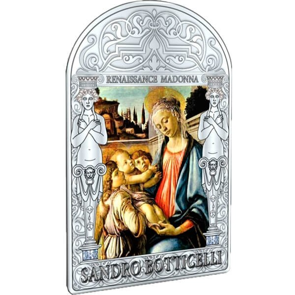 Andorra 2012 15 diners Madonna and Child with Two Angels by Sandro Botticelli. The Ranaissance Madonna Program (4th issue) Proof Silver Coin