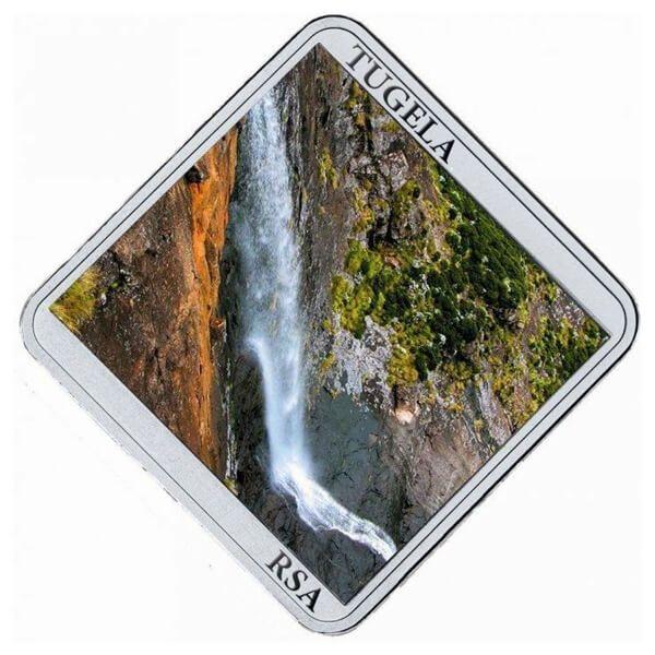 Niue 2015 1$ Tugela Falls Waterfall 1/2 oz Proof Silver Coin