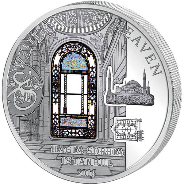 Cook Islands 2016 10$ Hagia Sophia Windows Of Heaven 50 g Proof-like Silver Coin