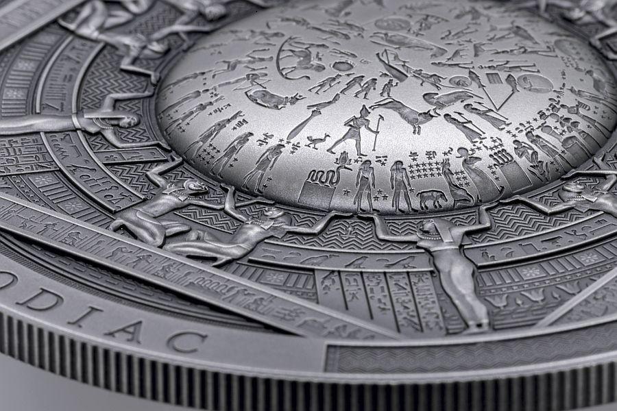 DENDERA Archeology & Symbolism 3 oz Antique finish Silver Coin 20$ Cook Islands 2020