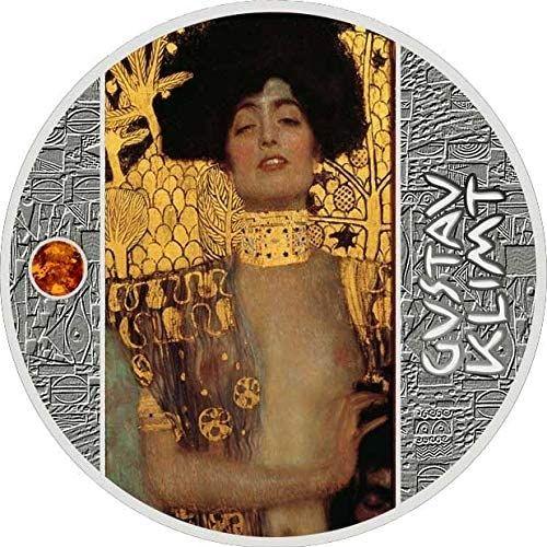 Judith Gustav Klimt Golden Five Proof Silver Coin 500 Francs Cameroon 2020