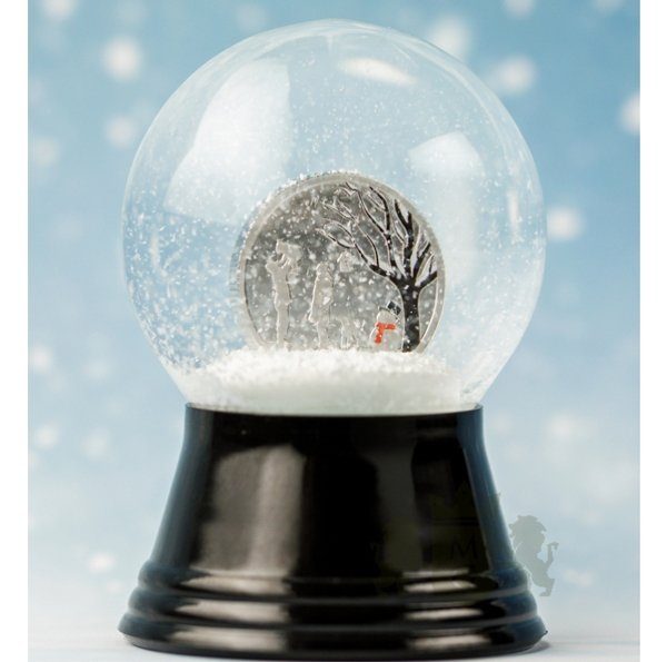 Winter Wonderland Globe Proof-like Silver Coin 1$ Cook Islands 2019