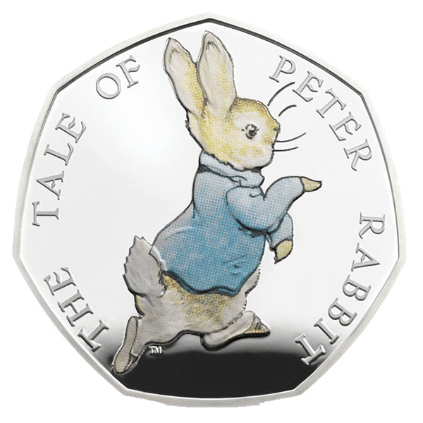 United Kingdom 2017 50 Pence Beatrix Potter - Peter Rabbit Proof Silver Coin