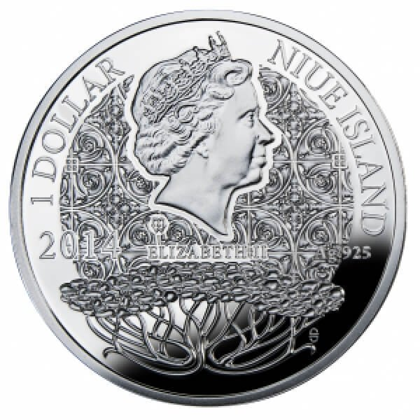 MARCH  The Magic Stones of Happiness  Proof silver Coin 1$ Niue 2014