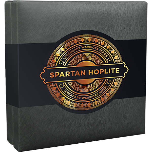 Spartan Hoplite Legendary Warriors 3 oz Antique finish Silver Coin 3000 Francs CFA Cameroon 2019