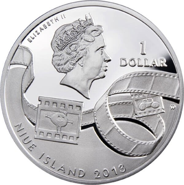 Niue 2013 1$  Scooby–Doo  Cartoon Characters  Proof Silver Coin