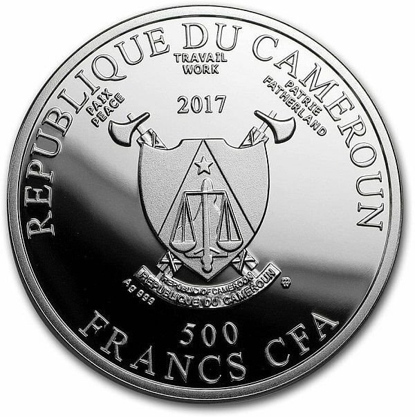 Man in a Red Turban Pride of European Painting Proof Silver Coin 500 Francs Cameroon 2017