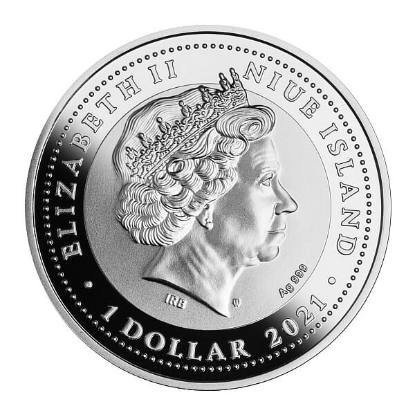 Merry Christmas Proof Silver Coin 1$ Niue 2021