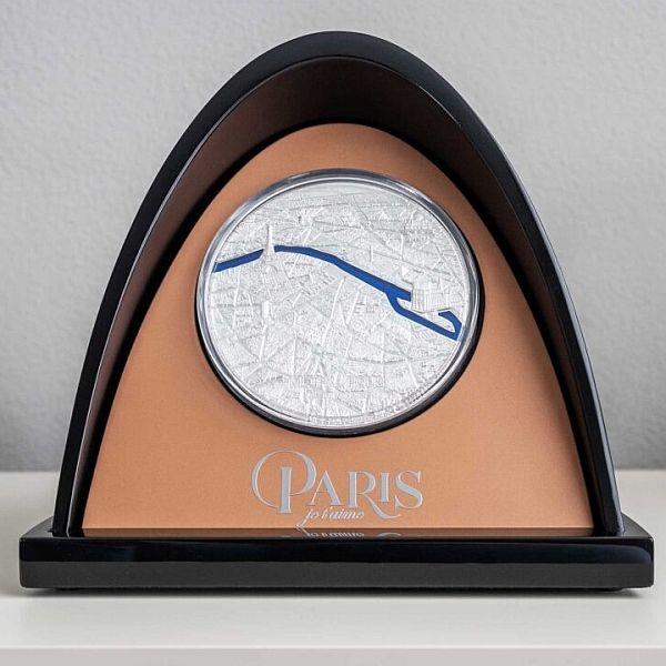 Paris Tiffany Art 1 Kilo Proof Silver Coin 50$ Palau 2021