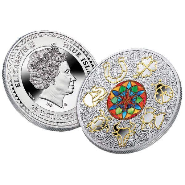 Lucky Seven 250 g Proof Silver Coin 25$ Niue 2018