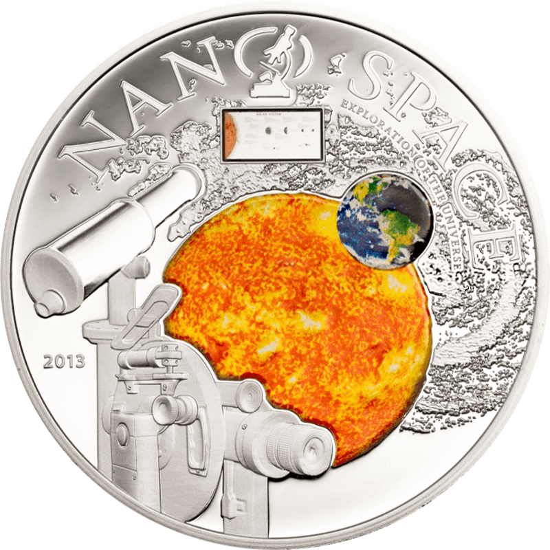 Nano Space Proof Silver Coin 10$ Cook Islands 2013