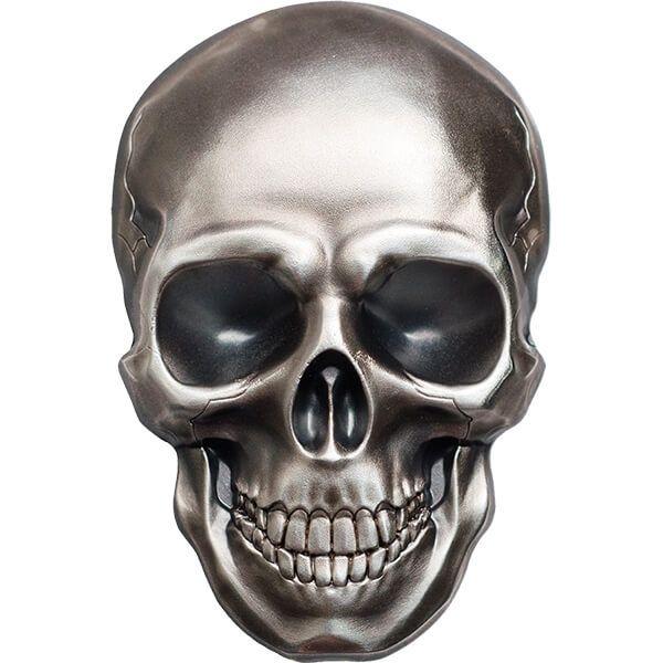 Palau 2016 5$ Skull No1 1 oz Antique finish Silver Coin