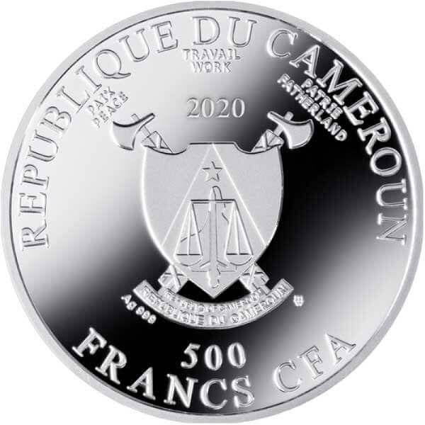 Portrait of Emilie Flöge Gustav Klimt Proof Silver Coin 500 Francs Cameroon 2020