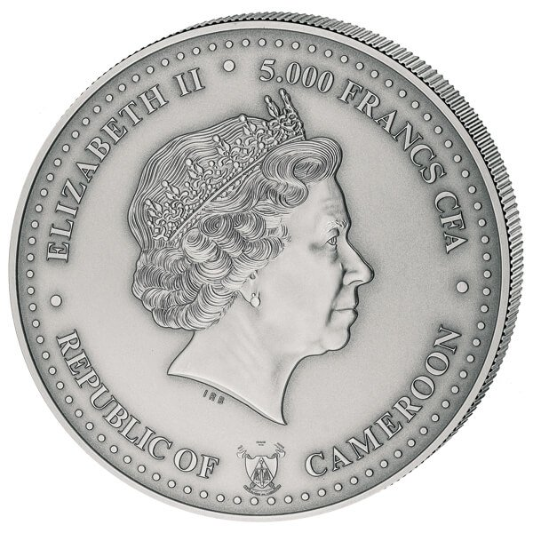Tea Horse Road - Historic Trade Routes 5o z Antique Finish Silver Coin 5000 Francs Cameroon 2017