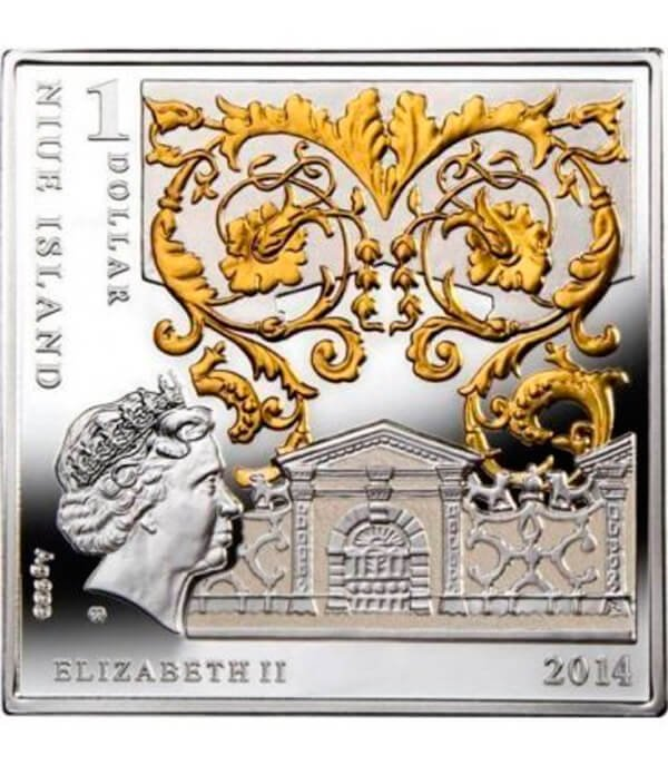 Masterpieces of the Renaissance  Birth of Venus Proof Silver Coin 1$ Niue 2014