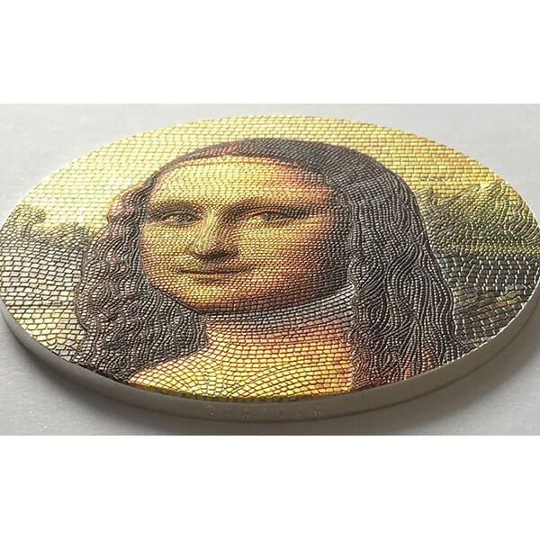 Mona Lisa Great Micromosaic Passion 3 oz Proof Silver Coin 20$ Palau 2018 20$