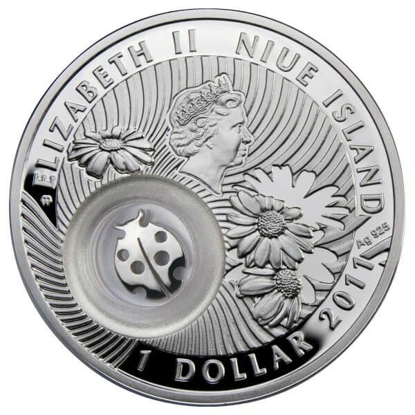 Niue 2011 1$ Ladybird  Lucky Coins I Proof Silver Coin