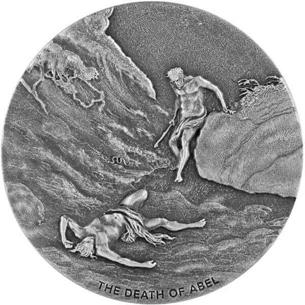 The Death of Abel Biblical Coin 2 oz  BU Silver Coin 2$ Niue 2017