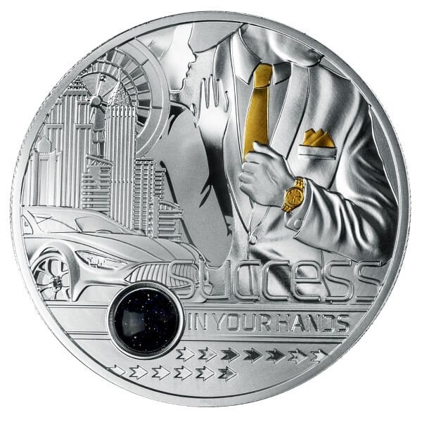 Success in Your Hands 1 oz Proof Silver Coin 1000 Francs Cameroon 2021