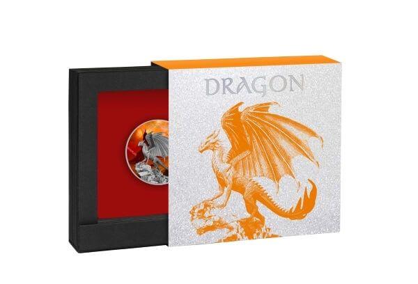 Dragon 32.90g Proof Silver Coin 2$ Niue 2020
