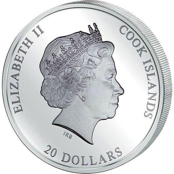 "Cook Islands 2014 20$ ""Pieta"" Michelangelo`s Masterpiece  Masterpieces of Art 3 oz Proof Gold Silver Coin"