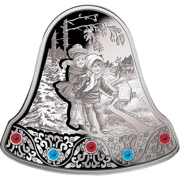 Christmas Bell 2013 Proof Silver Coin 2$ Niue 2013